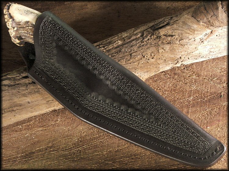Nessmuck Knife Sheath With Wide Border Stamping